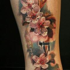 Cherry Blossom Tattoo by Dongkyu L - 200 Floral Tattoos - Beautiful Flower Designs, Ideas for Tattoos