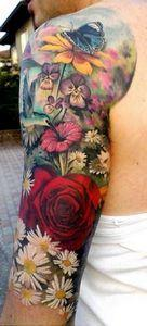 Love the rose...all of the flowers - 200 Floral Tattoos - Beautiful Flower Designs, Ideas for Tattoos