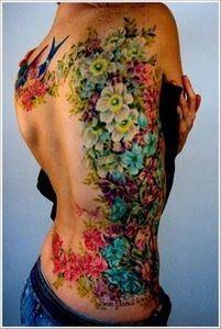 Amazing Orchid Tattoo Design For W - 200 Floral Tattoos - Beautiful Flower Designs, Ideas for Tattoos
