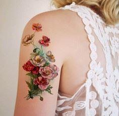 Tattly's beautiful botanical tempo - 200 Floral Tattoos - Beautiful Flower Designs, Ideas for Tattoos