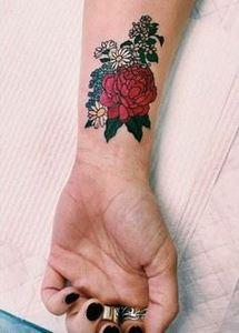 This floral tattoo is so pretty. - 200 Floral Tattoos - Beautiful Flower Designs, Ideas for Tattoos