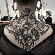 Nape tattoo by Clarisse Amour #Cla - 200 Floral Tattoos - Beautiful Flower Designs, Ideas for Tattoos