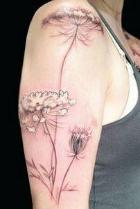 This Queen Anne's Lace was done by - 200 Floral Tattoos - Beautiful Flower Designs, Ideas for Tattoos