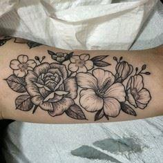 """one of the flower walk ins today. - 200 Floral Tattoos - Beautiful Flower Designs, Ideas for Tattoos"