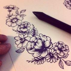 I don't know what it is that I lov - 200 Floral Tattoos - Beautiful Flower Designs, Ideas for Tattoos