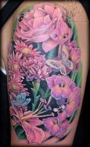 womens calf flower tattoos | Tatto - 200 Floral Tattoos - Beautiful Flower Designs, Ideas for Tattoos
