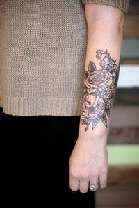 botanical tattoo by kirsten hollid - 200 Floral Tattoos - Beautiful Flower Designs, Ideas for Tattoos