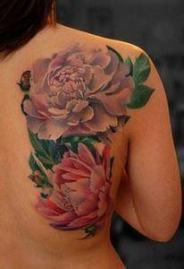 Artistic rendering of peony flower - 200 Floral Tattoos - Beautiful Flower Designs, Ideas for Tattoos