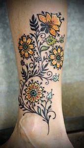pretty! - 200 Floral Tattoos - Beautiful Flower Designs, Ideas for Tattoos