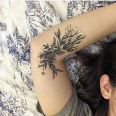 inner arm tattoo - 200 Floral Tattoos - Beautiful Flower Designs, Ideas for Tattoos