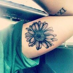 Black Daisy Tattoo - 200 Floral Tattoos - Beautiful Flower Designs, Ideas for Tattoos