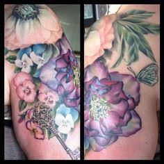 Added on to Sue's existing flower  - 200 Floral Tattoos - Beautiful Flower Designs, Ideas for Tattoos