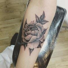 Botanical peonies tattoo from frit - 200 Floral Tattoos - Beautiful Flower Designs, Ideas for Tattoos