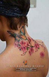 Beautiful Cherry Blossom tattoo! N - 200 Floral Tattoos - Beautiful Flower Designs, Ideas for Tattoos