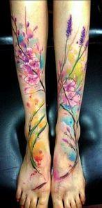 #tattoo #ink #watercolor - 200 Floral Tattoos - Beautiful Flower Designs, Ideas for Tattoos