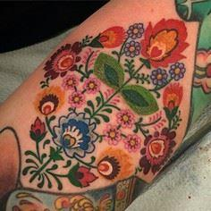 Gorgeous floral Swedish embroidery - 200 Floral Tattoos - Beautiful Flower Designs, Ideas for Tattoos