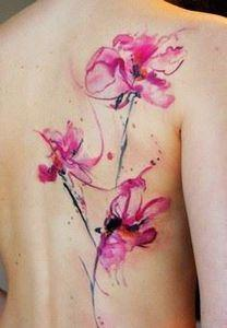 65+ Examples of Watercolor Tattoo  - 200 Floral Tattoos - Beautiful Flower Designs, Ideas for Tattoos