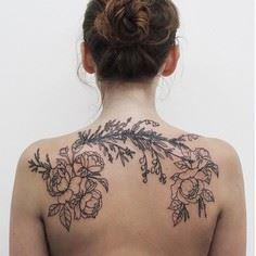 Botanical/floral tattoo by Olga Ne - 200 Floral Tattoos - Beautiful Flower Designs, Ideas for Tattoos
