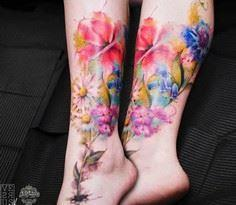 Flowers tattoo by Versus Ink - 200 Floral Tattoos - Beautiful Flower Designs, Ideas for Tattoos