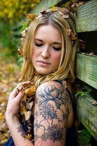 Flowers...hmm Im wondering if I ca - 200 Floral Tattoos - Beautiful Flower Designs, Ideas for Tattoos