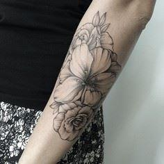 #ink #tattoo - 200 Floral Tattoos - Beautiful Flower Designs, Ideas for Tattoos