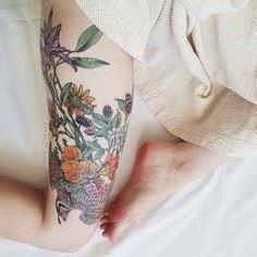 50 Insanely Gorgeous Nature Tattoo - 200 Floral Tattoos - Beautiful Flower Designs, Ideas for Tattoos