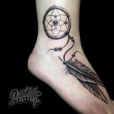 Dream Catcher Foot Tattoos 40 Foot Tattoos Popular Tattoos for Feet Designs and Ideas 33