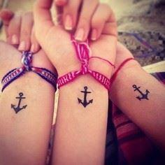 I like the idea of doing this--or  - 75 Friendship Tattoos - Find Friend Tattoos (Designs and Ideas)