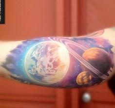 Space tattoo - 50 Galaxy Tattoos - Earth Shattering Space Tattoos