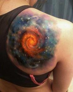 Swirling Galaxy Space Tattoo - 50 Galaxy Tattoos - Earth Shattering Space Tattoos