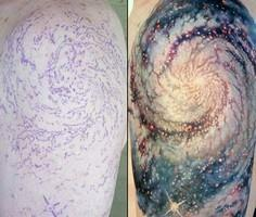 Star Tattoo Men's Sleeve Ideas - 50 Galaxy Tattoos - Earth Shattering Space Tattoos