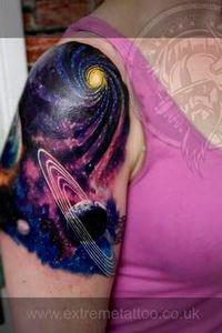 tattoo planetas no braço - Pesquis - 50 Galaxy Tattoos - Earth Shattering Space Tattoos