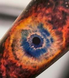 Helix nebula tattoo - 50 Galaxy Tattoos - Earth Shattering Space Tattoos