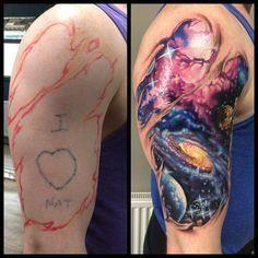 Galaxy tattoo, space tattoo, rippe - 50 Galaxy Tattoos - Earth Shattering Space Tattoos