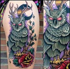 Not my style but this is pretty aw - 50 Owl Tattoos You Have to See