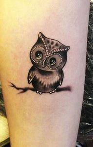 Cute Owl -  Tattoo Artist - Radu R - 50 Owl Tattoos You Have to See