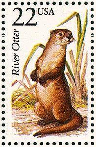 River otter  1987-06-13 - 40 Postage Stamp Tattoos