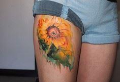 45 Inspirational Sunflower Tattoos - 185 Thigh Tattoos