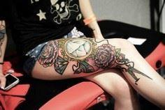 Girly leg tattoos - 50 Examples of - 185 Thigh Tattoos