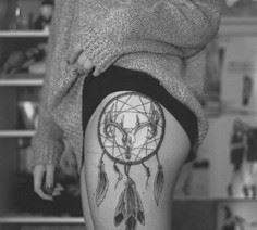 Dreamcatcher tattoo - 50 Dreamcatc - 185 Thigh Tattoos