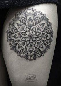 Mandala Tattoo-26 - 185 Thigh Tattoos