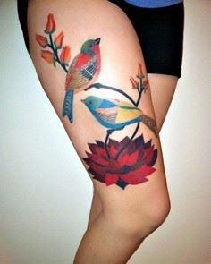Beautiful illustration leg tattoo  - 185 Thigh Tattoos