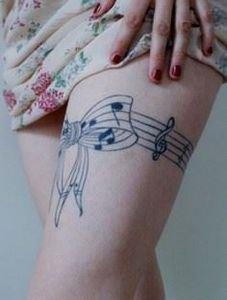 Music leg tattoo, 50 Incredible Le - 185 Thigh Tattoos