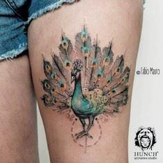 Bird Tattoo by Fabio Mauro - Peaco - 185 Thigh Tattoos
