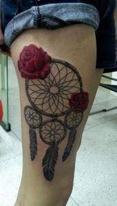 apanhador de sonhos - 50 Beautiful - 185 Thigh Tattoos