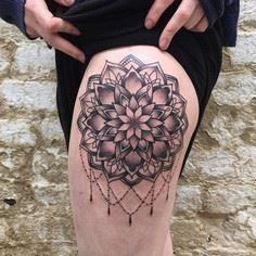 Mandala thigh tattoo - 30+ Intrica - 185 Thigh Tattoos