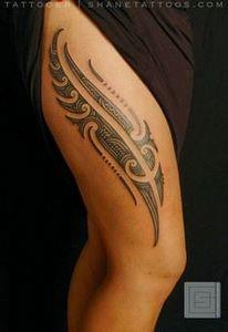 Maori thigh tattoo - 55 Thigh Tatt - 185 Thigh Tattoos