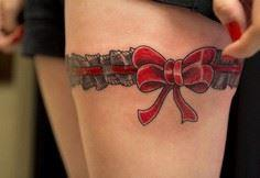 Red Ribbon Tattoo - Ribbon is a sy - 185 Thigh Tattoos