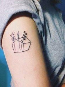 These little tree. - 99 Tiny Tattoos