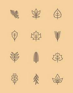 New York State Leaf Pictograms | J - 99 Tiny Tattoos